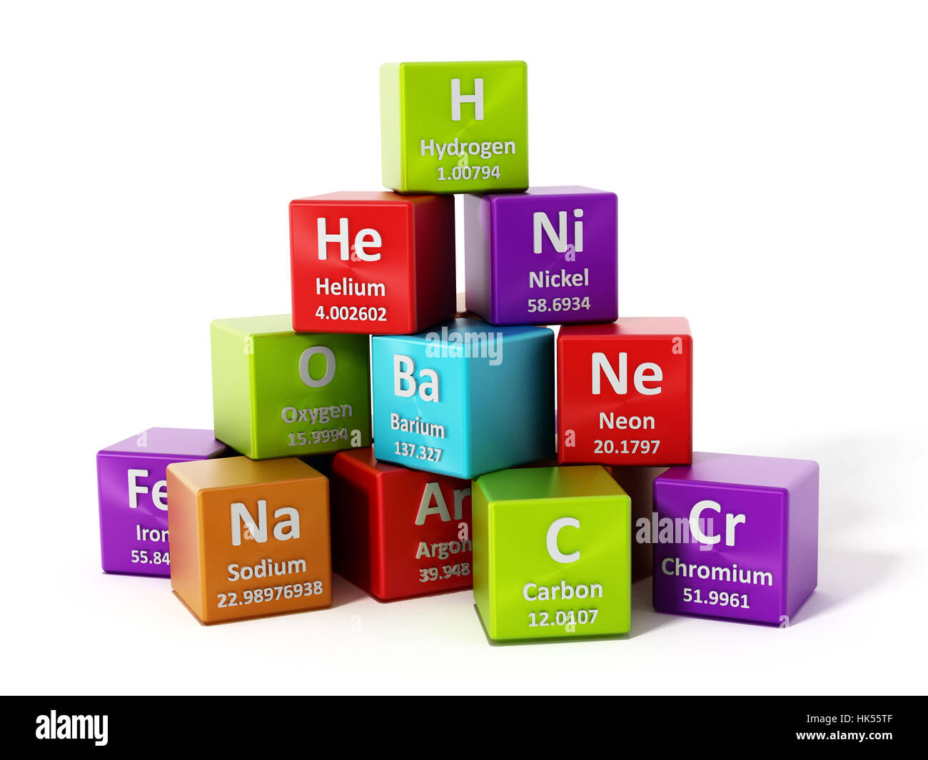 Periodic table elements isolated on white background 3d stock photo periodic table elements isolated on white background 3d illustration urtaz Choice Image