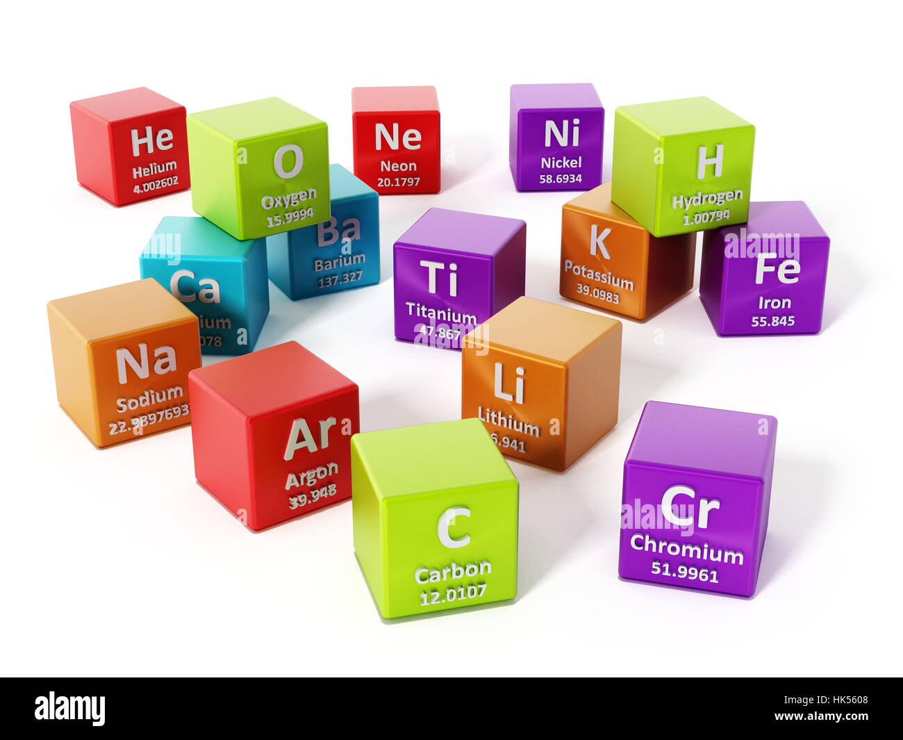 Periodic table cut out stock images pictures alamy periodic table elements isolated on white background 3d illustration stock image urtaz Gallery