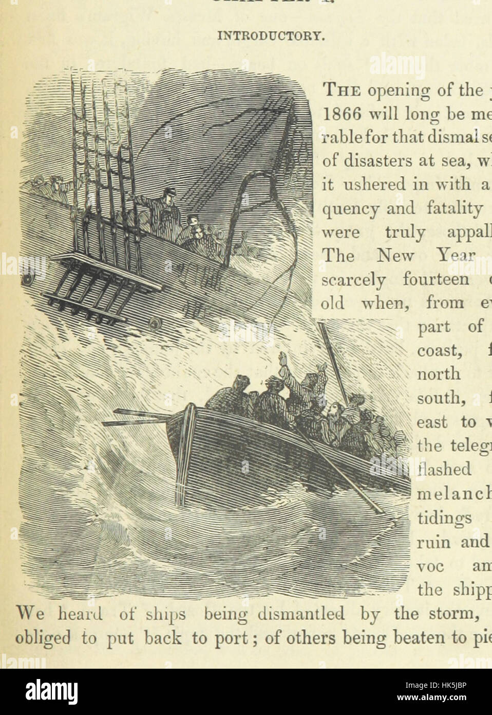 """Image taken from page 21 of 'Wreck of the """"London."""" [With illustrations.]' Image taken from page 21 of 'Wreck of the Stock Photo"""