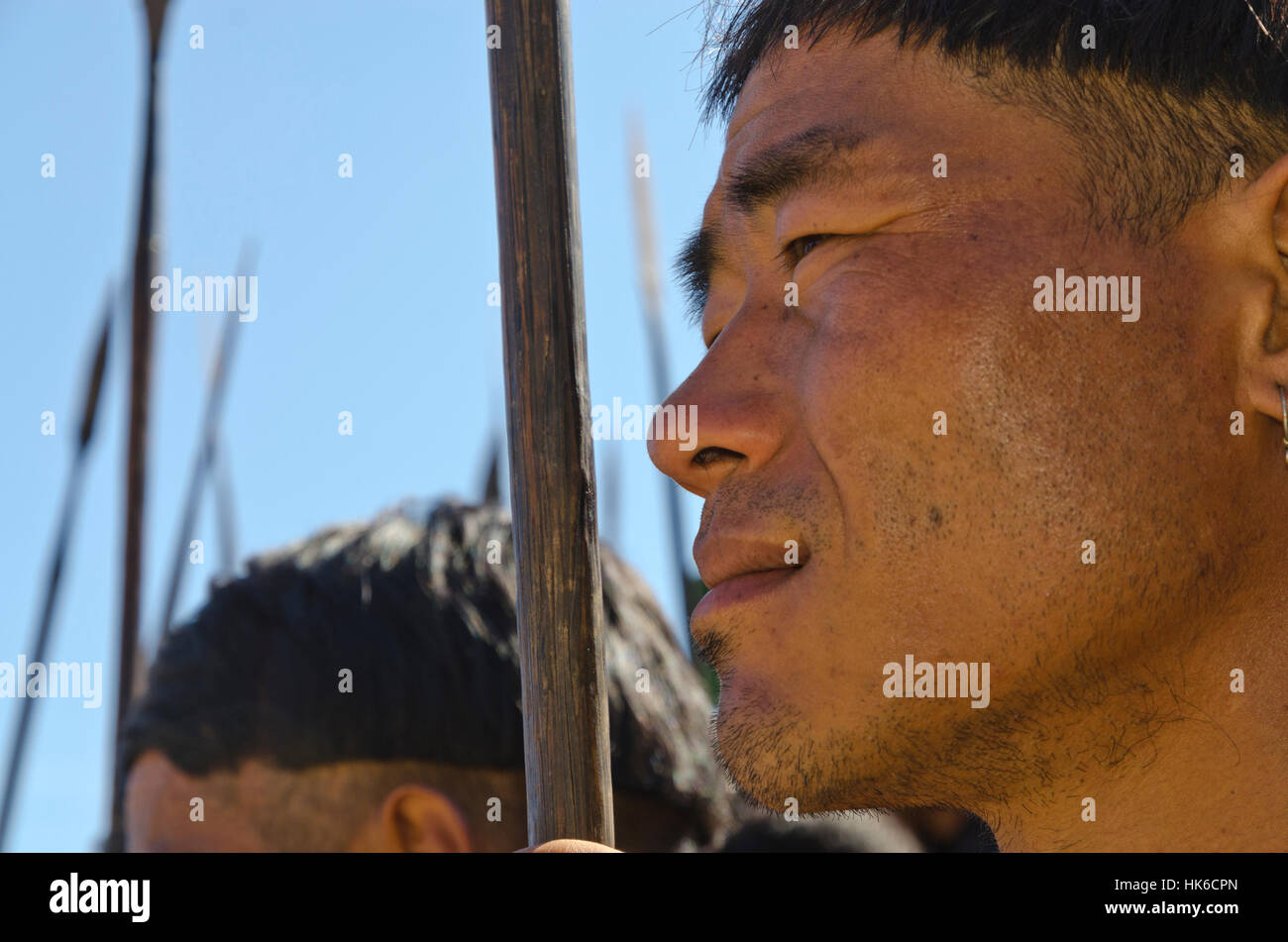 There is an exiting mix of tribal people and their customs to experience at Hornbill-Festival in Kohima every year Stock Photo