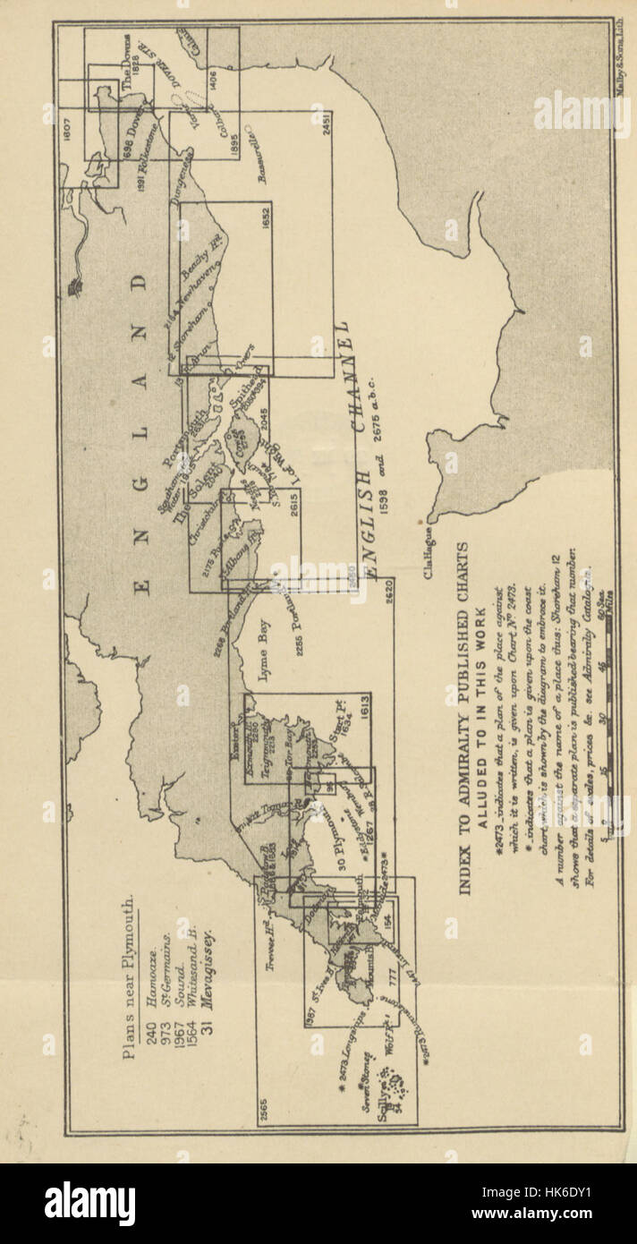 Antique Map Of The English Channel Stock Photos & Antique Map Of The ...