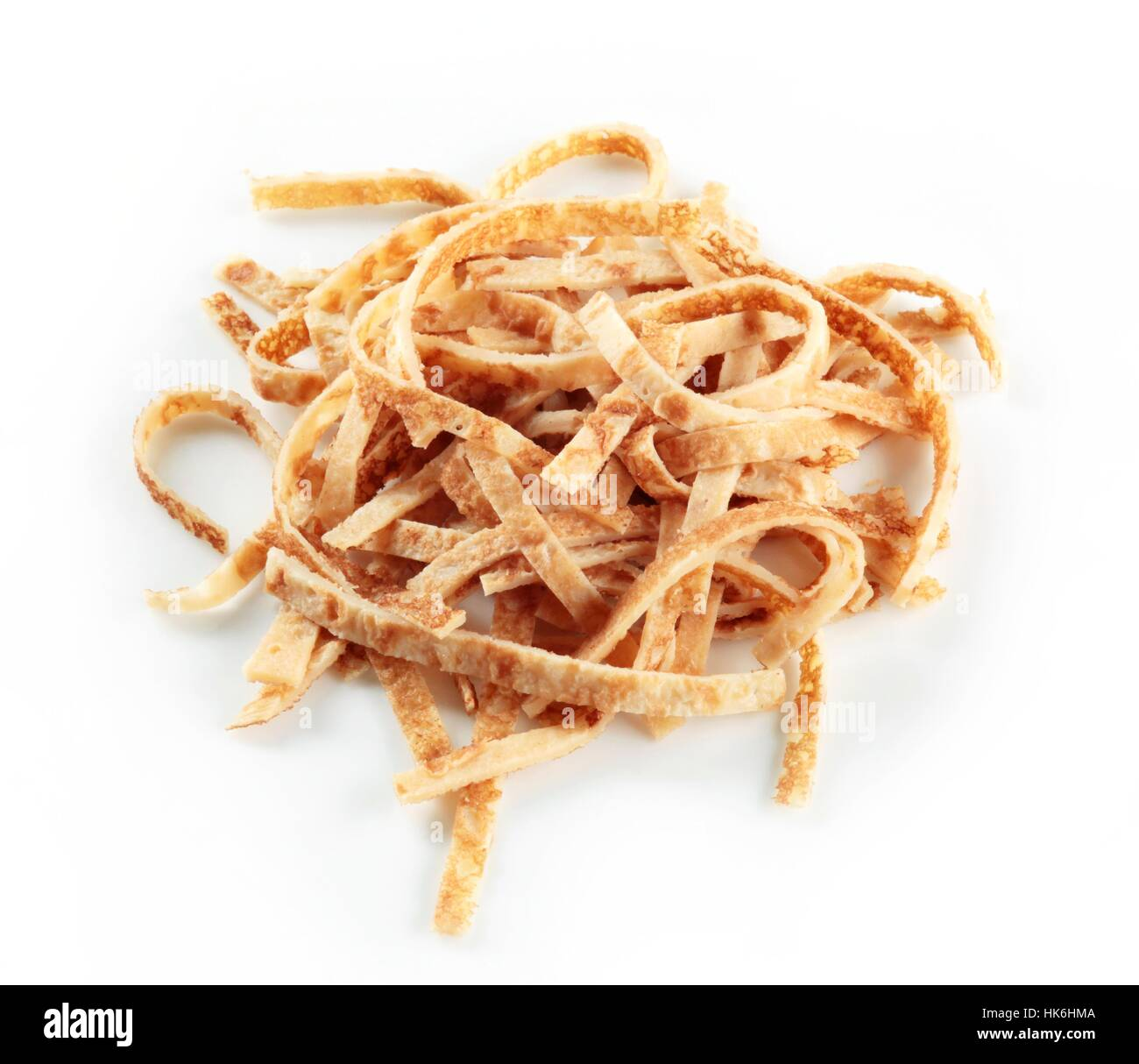 food, aliment, closeup, studio, noodles, dried, heap, sliced, pancake, slices, - Stock Image