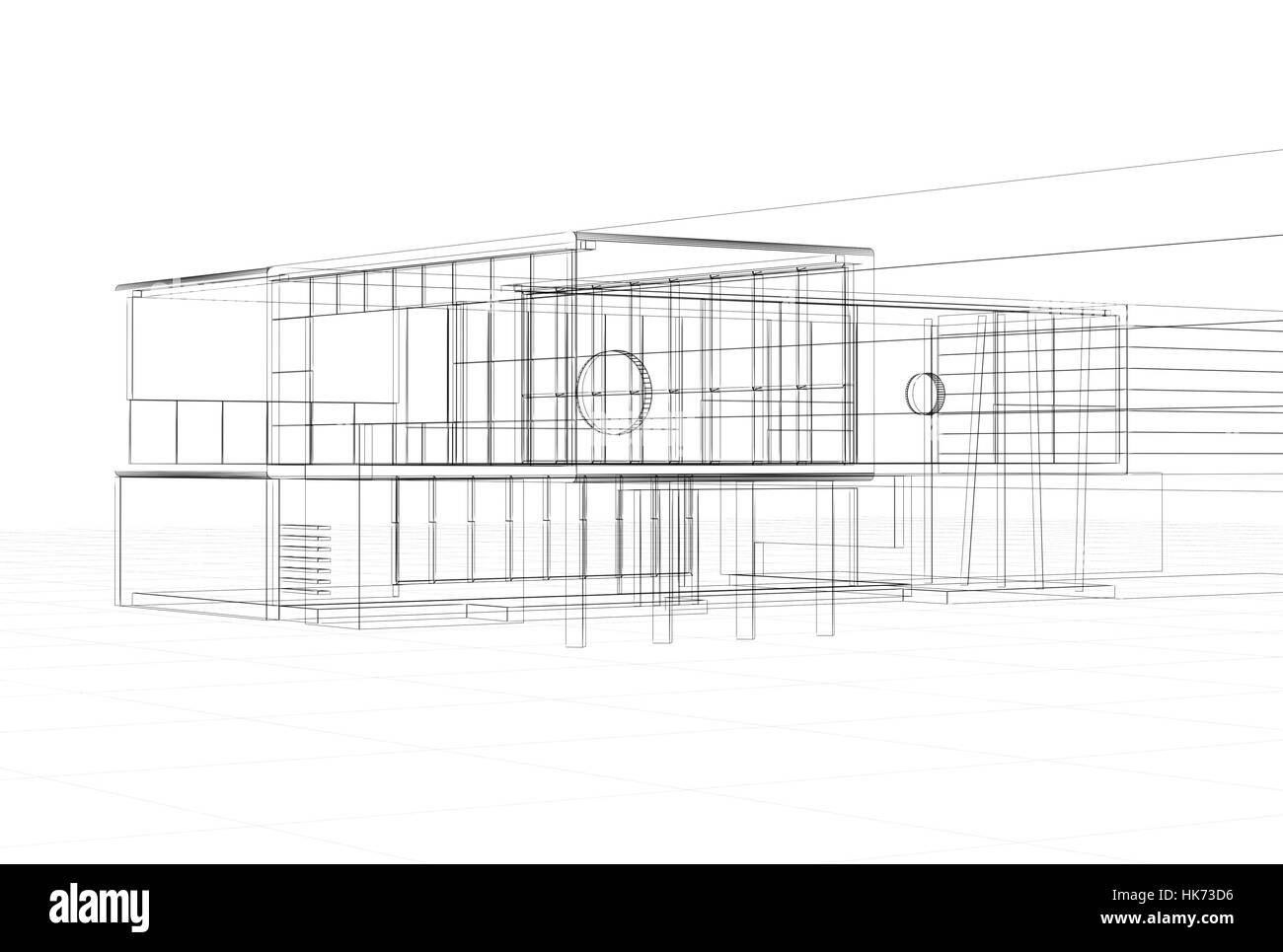 house, building, office, model, design, project, concept, plan Stock ...