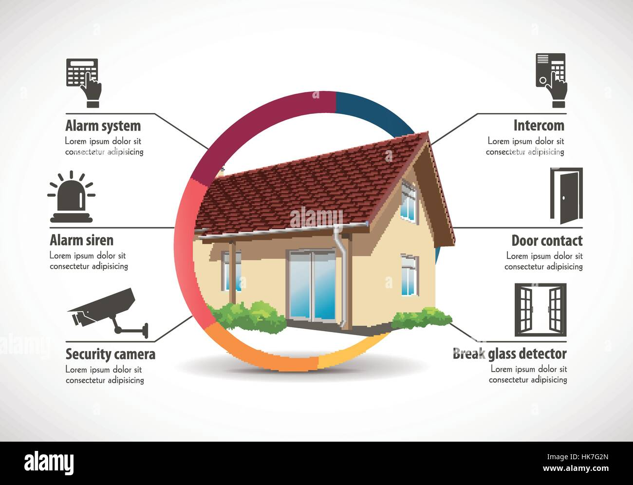 House Construction - home building concept - Stock Vector