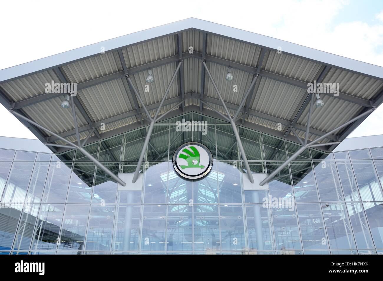 MLADA BOLESLAV, CZECH REPUBLIC - MAY 30: Doors Open Day at Skoda Auto a.s. factory. Skoda auto celebrated 120 years - Stock Image