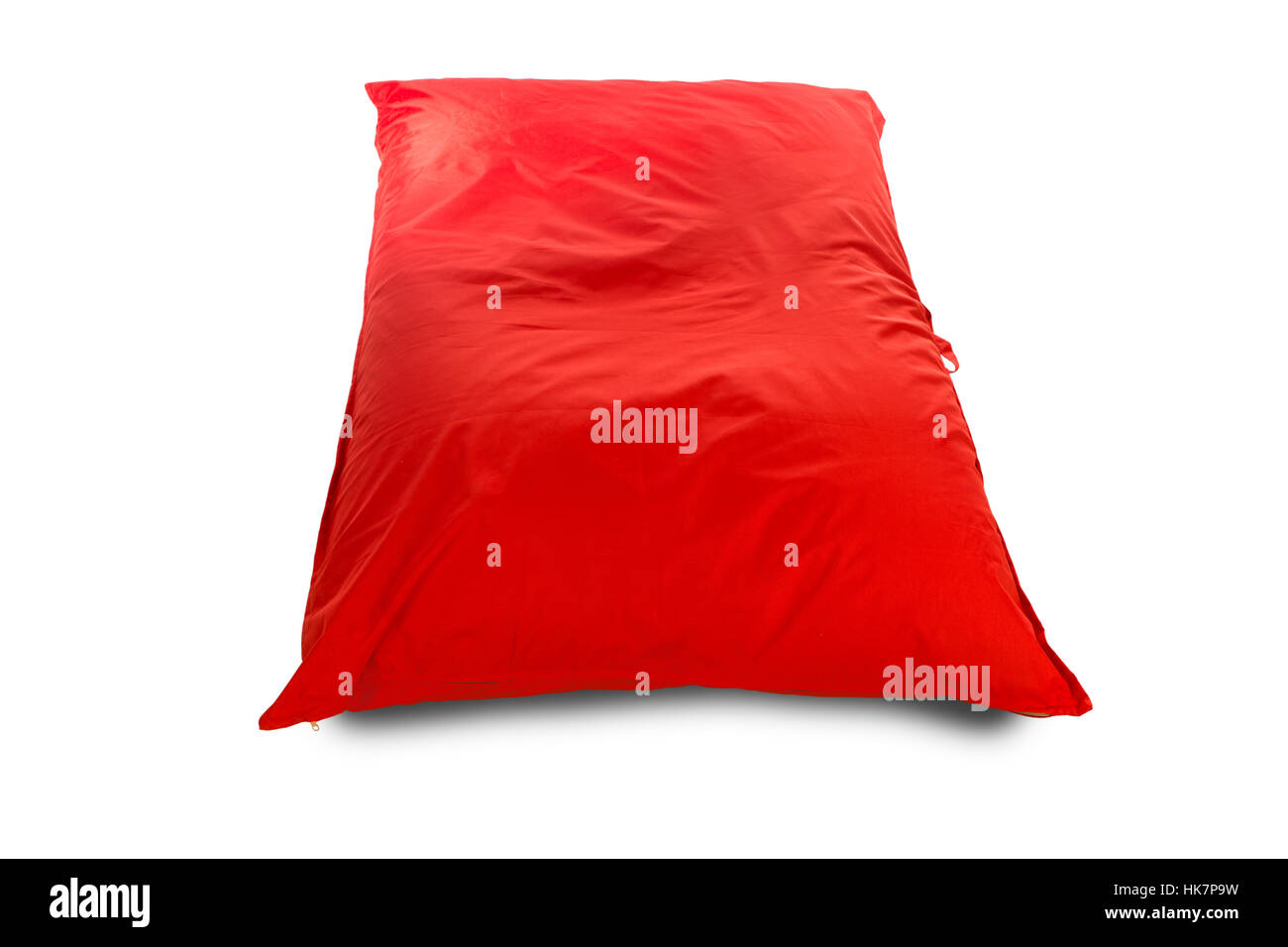 Big red square shaped beanbag sofa chair for living room or other