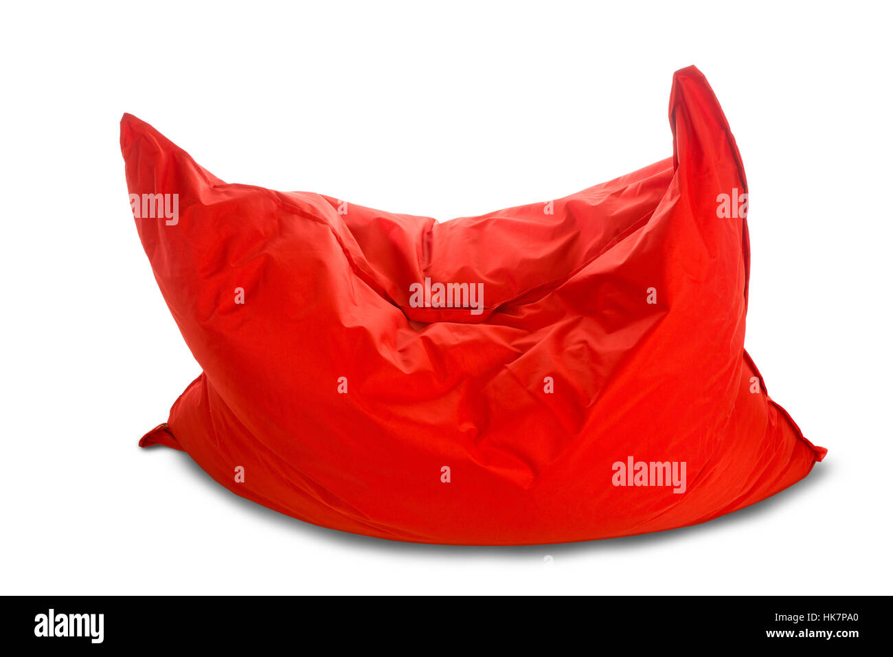 Super Soft Big Red Square Shaped Beanbag Sofa Chair Isolated On Pdpeps Interior Chair Design Pdpepsorg