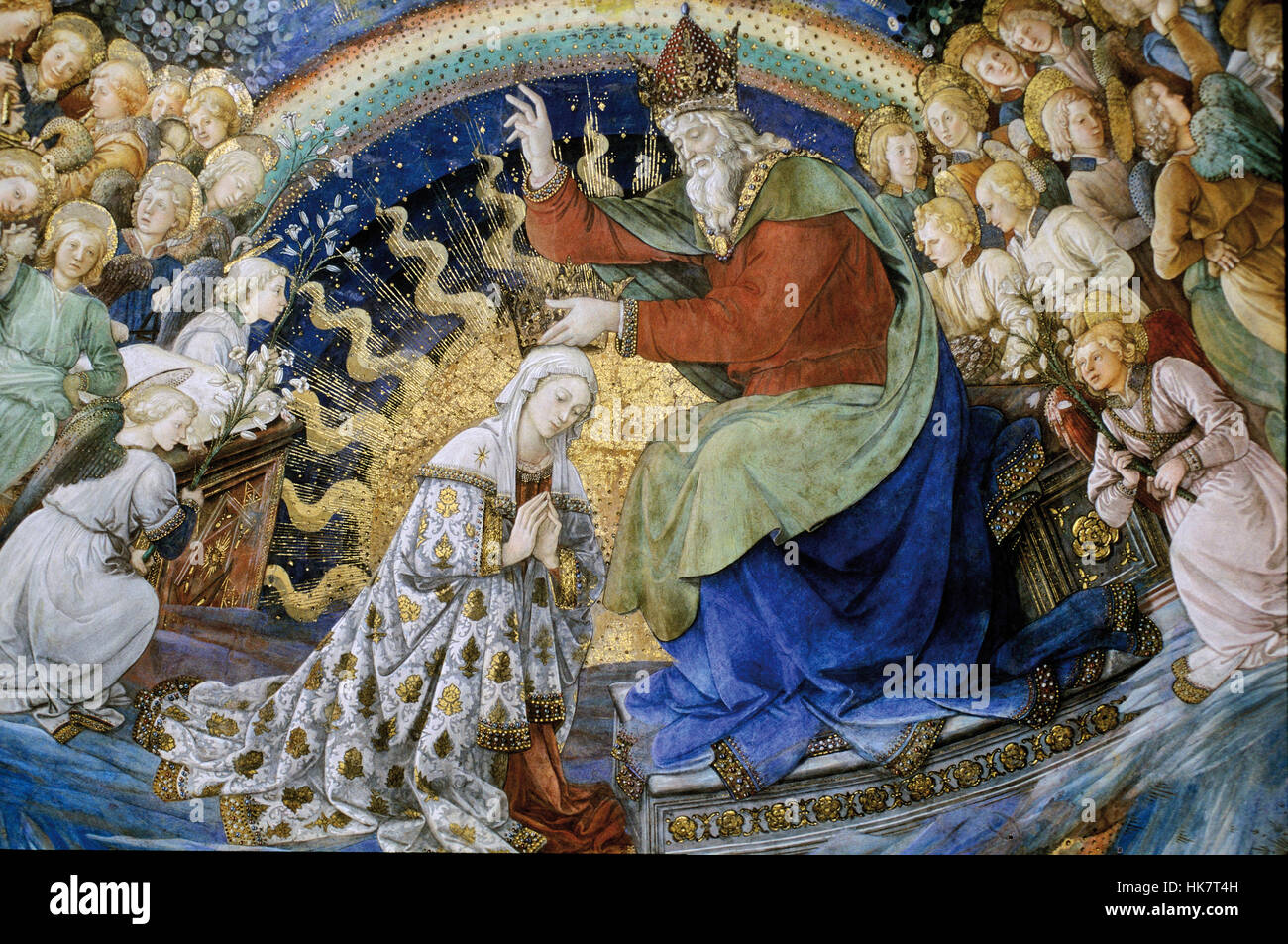 Italy, Umbria, Perugia, Province Spoleto, Cathedral, Virgin Histories Of Filippo Lippi - Stock Image