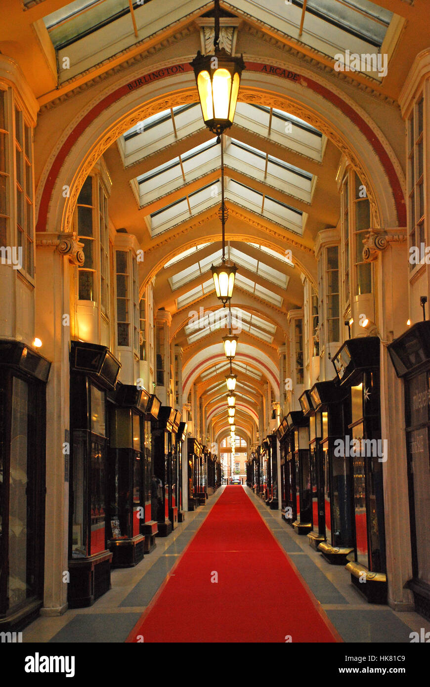 Shopping arcades Picadilly London UK - Stock Image