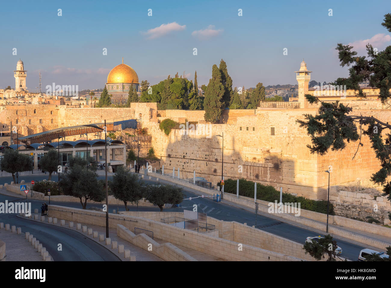 A view of Temple Mount in the old city of Jerusalem.Middle East, - Stock Image