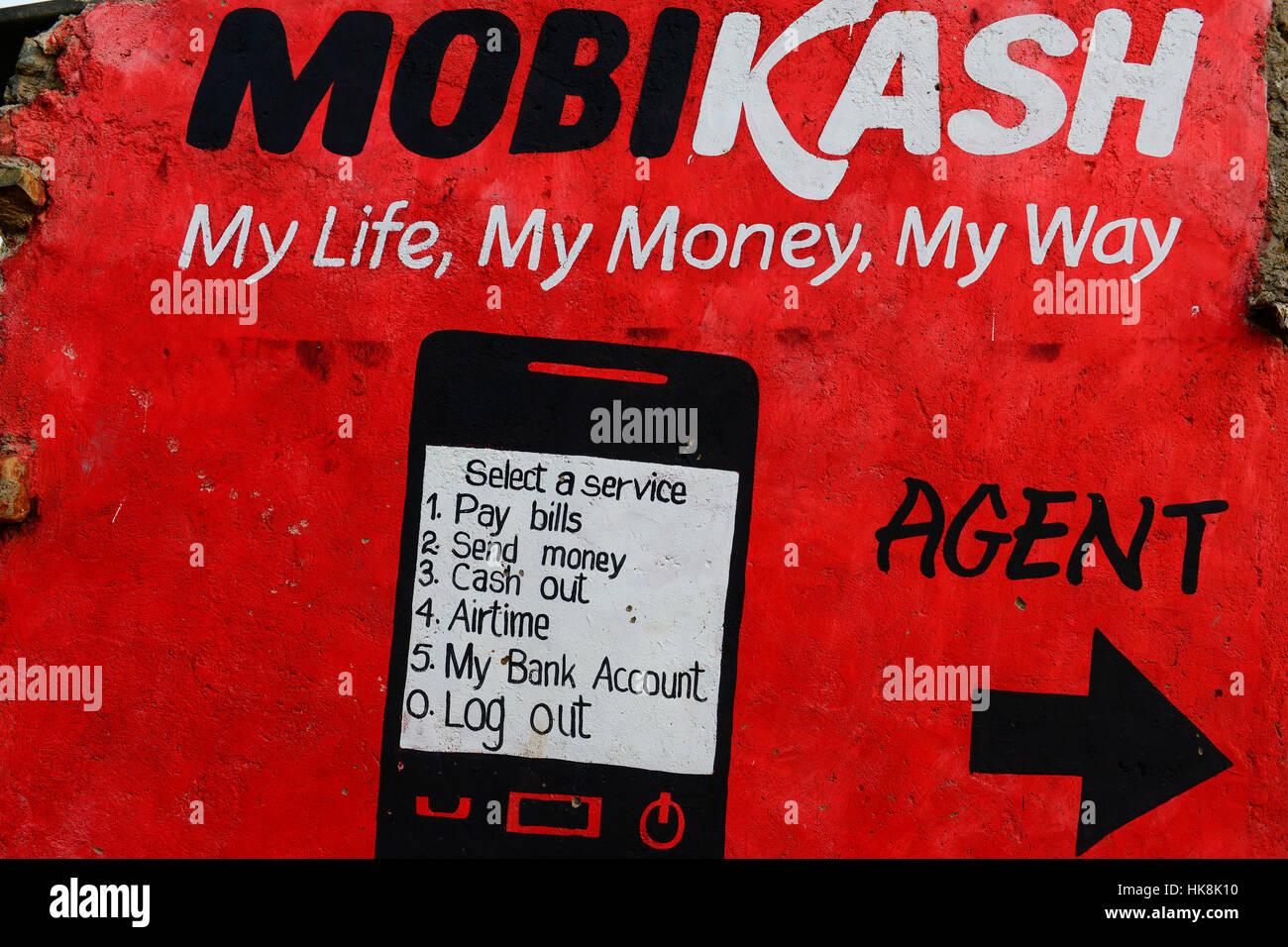 KENYA, County Siaya, village Kotanega, pay by mobile phone