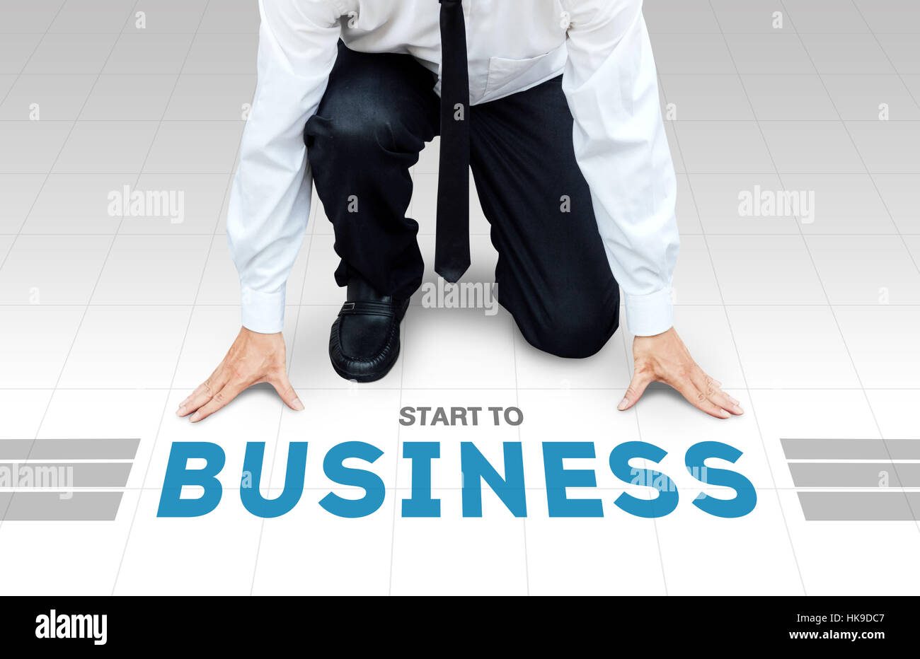 Start to work, ready begin to activity or business - Stock Image