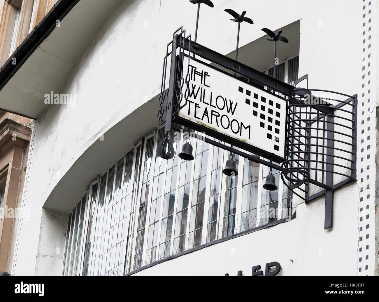 Charles Rennie Mackintosh Willow Tea Rooms Sauchiehall Street Glasgow Stock Photo