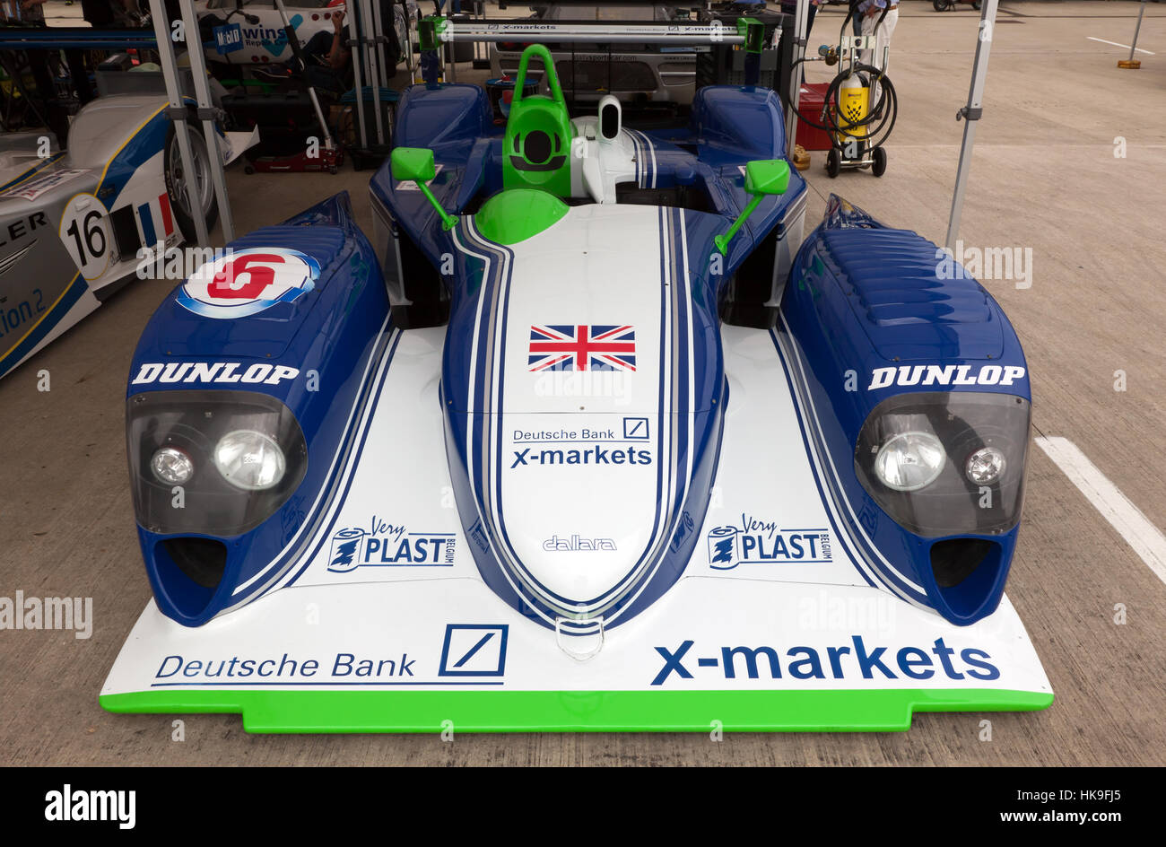 Front view of a  2001, Dallara-Judd LMP/SP1. part of the 90's Endurance legends display at the 2016 Silverstone - Stock Image
