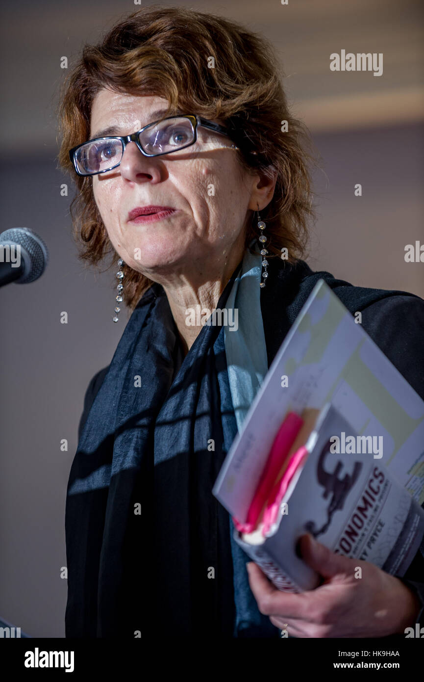 Vicky Pryce, ex-wife of politician Chris Huhne and author of Prisontronics, written by Ms. Pryce after the experience - Stock Image