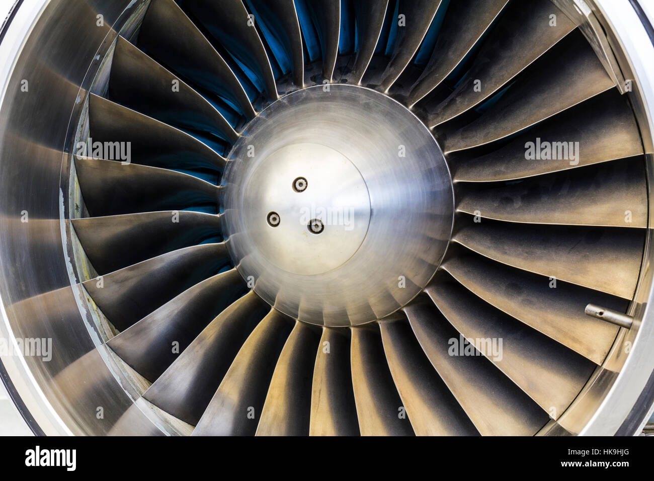 Turbine Blades of an Airplane Jet Engine I - Stock Image