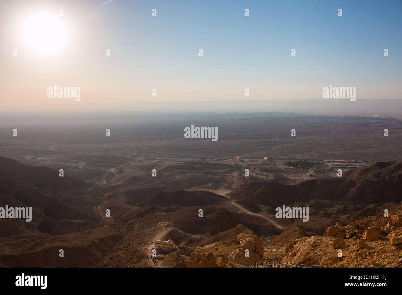 A view from the top of the mountain by St. Anthony's Monastery in Egypt Stock Photo