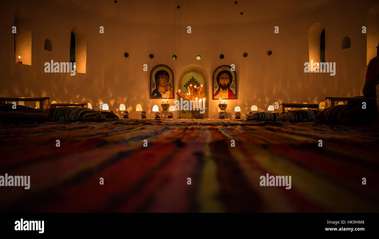 The Altar in the Anaphora Complex in Egypt Stock Photo