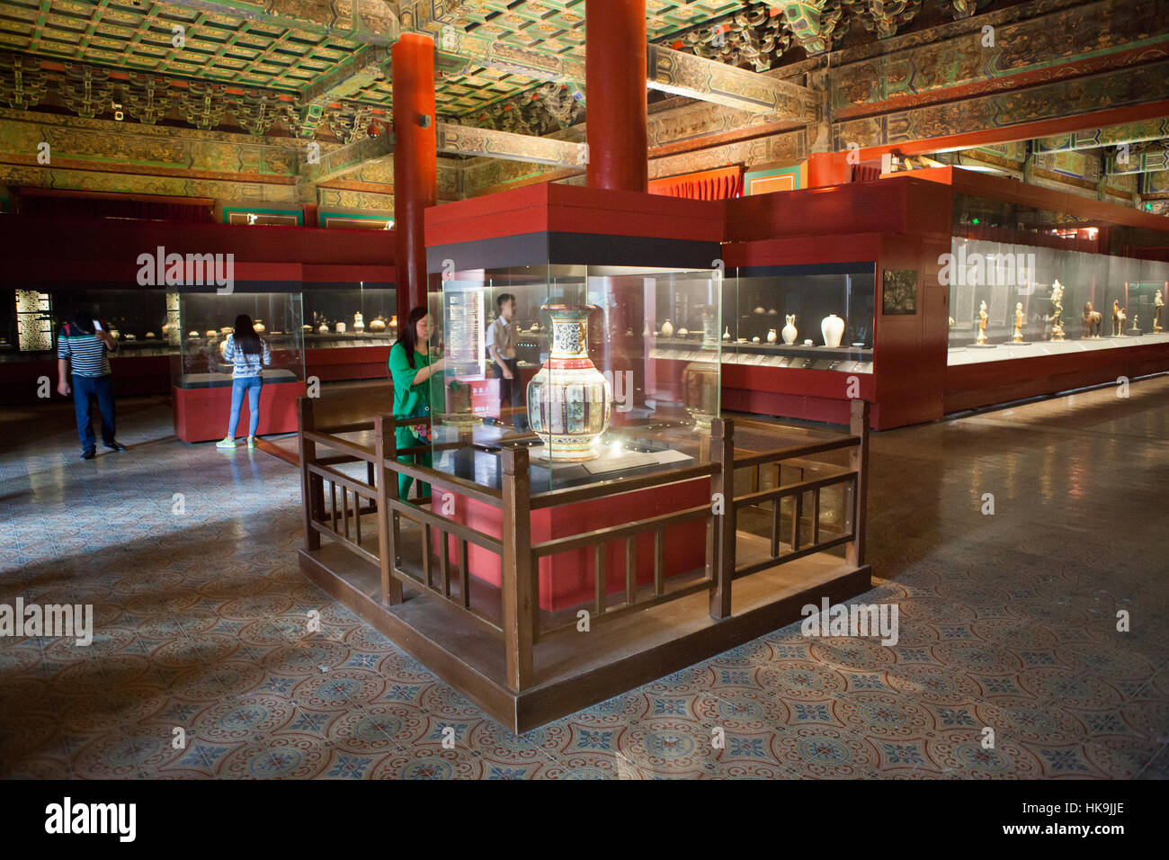 Pottery Gallery in the Hall of Literary Glory (Wenhuadian). Forbidden City, Beijing, China - Stock Image