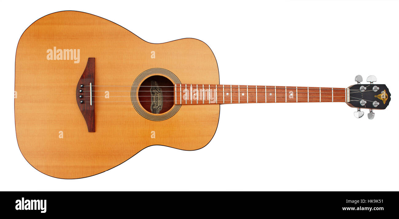 DJ Hodson handmade tenor guitar one of the last he ever made in 2006 serial number 366 - Stock Image