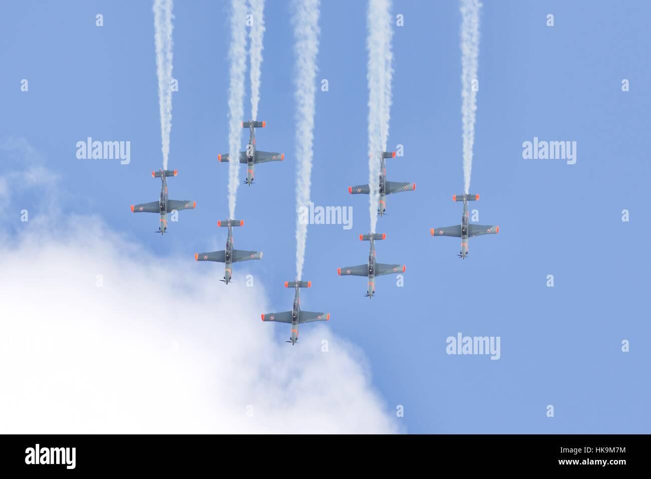 Orlik aerobatic display team - Stock Image