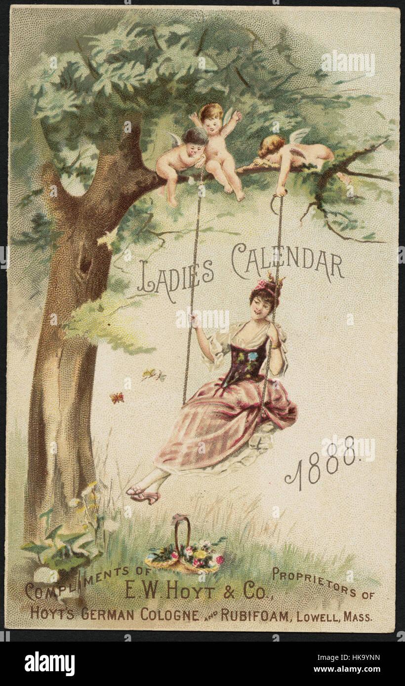 Ladies Calendar 888 - Stock Image