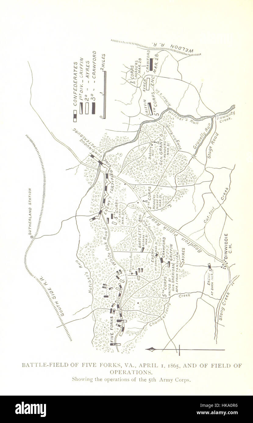 Image taken from page 914 of 'The Fifth Army Corps ... A record of operations during the civil war ... 1861 - Stock Image