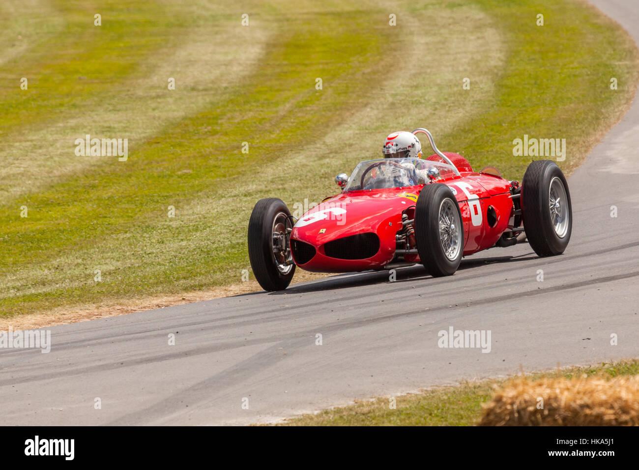 Ferrari historic racing car at Goodwood Festival of Speed 2014 - Stock Image