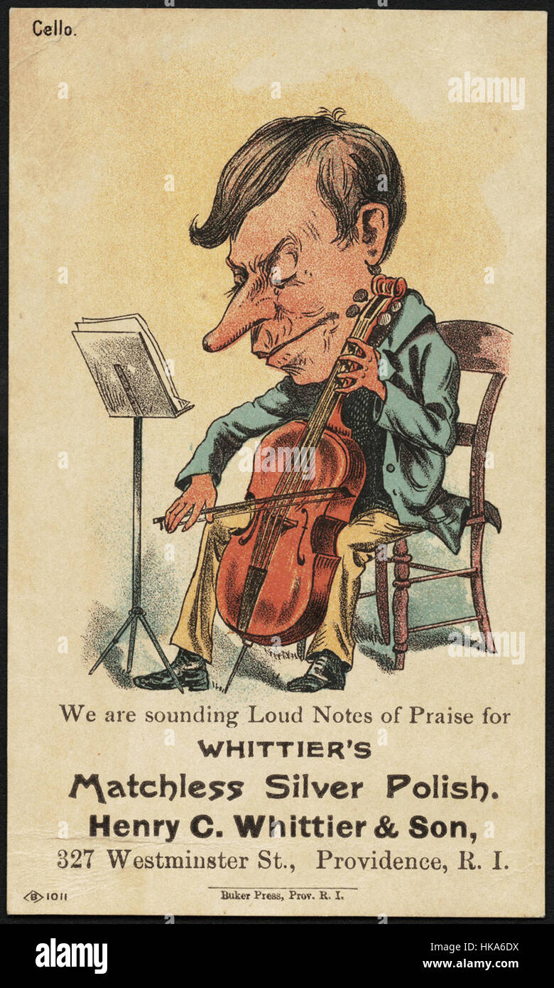 We are sounding loud notes of praise for Whittier's Matchless Silver Polish. Henry C. Whittier & Spon, 7 - Stock Image