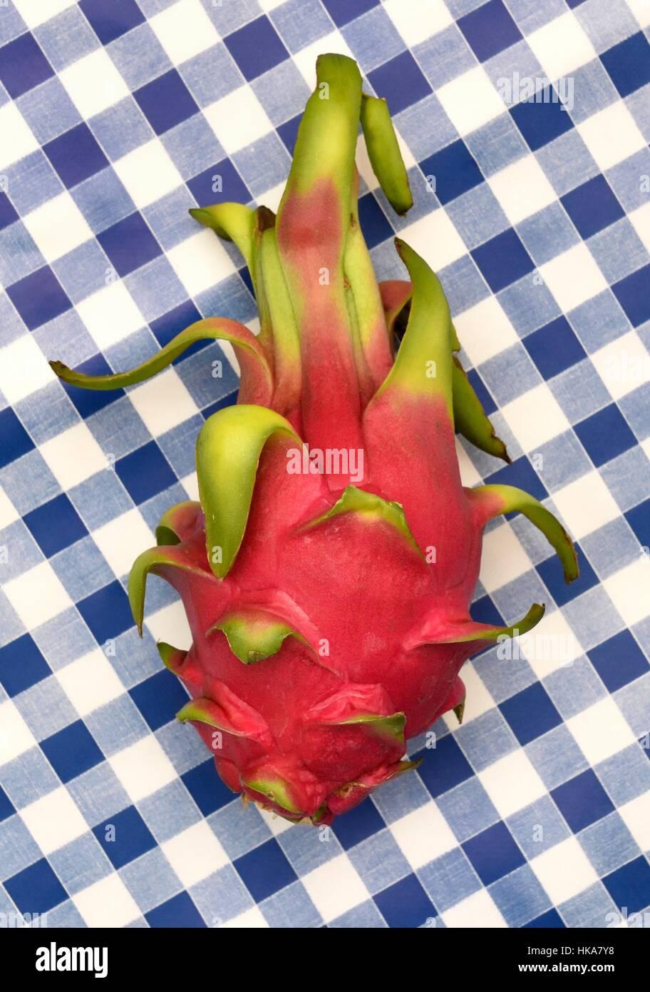 Pitaya Pitahaya blanca white fruit - Stock Image