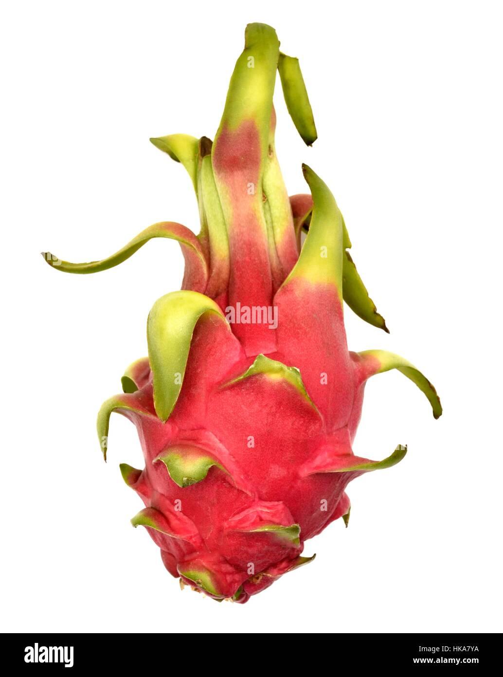 Pitaya Pitahaya blanca white fruit Dragon fruit - Stock Image