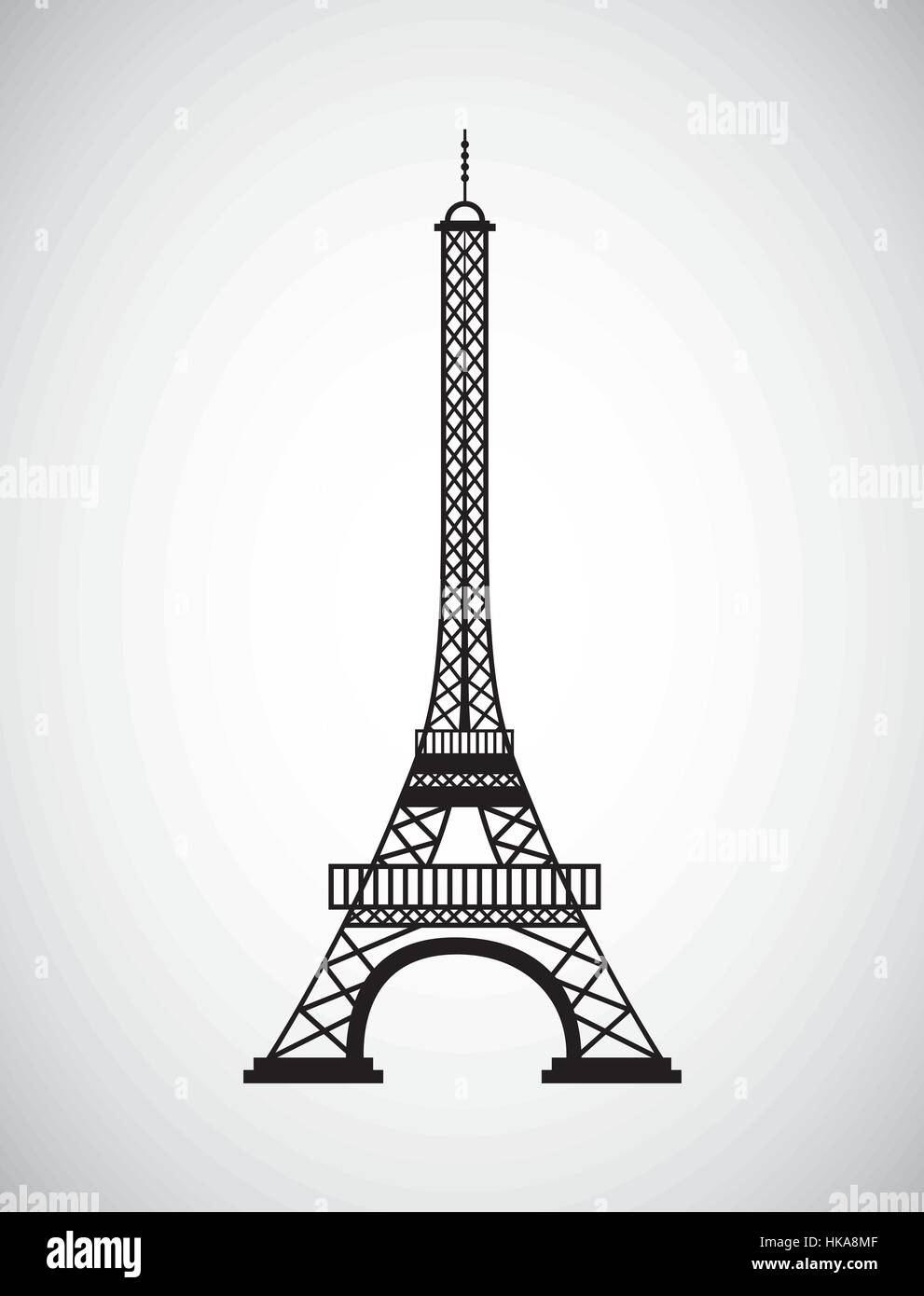 eiffel tower icon over white background. travel and tourism design. vector illustration - Stock Vector