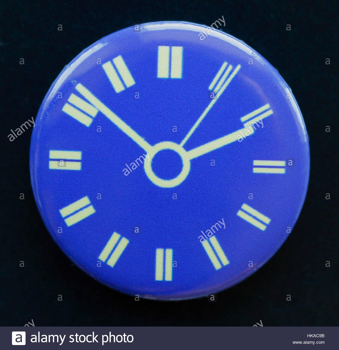 BBC Television Clock Logo on a pin badge Stock Photo