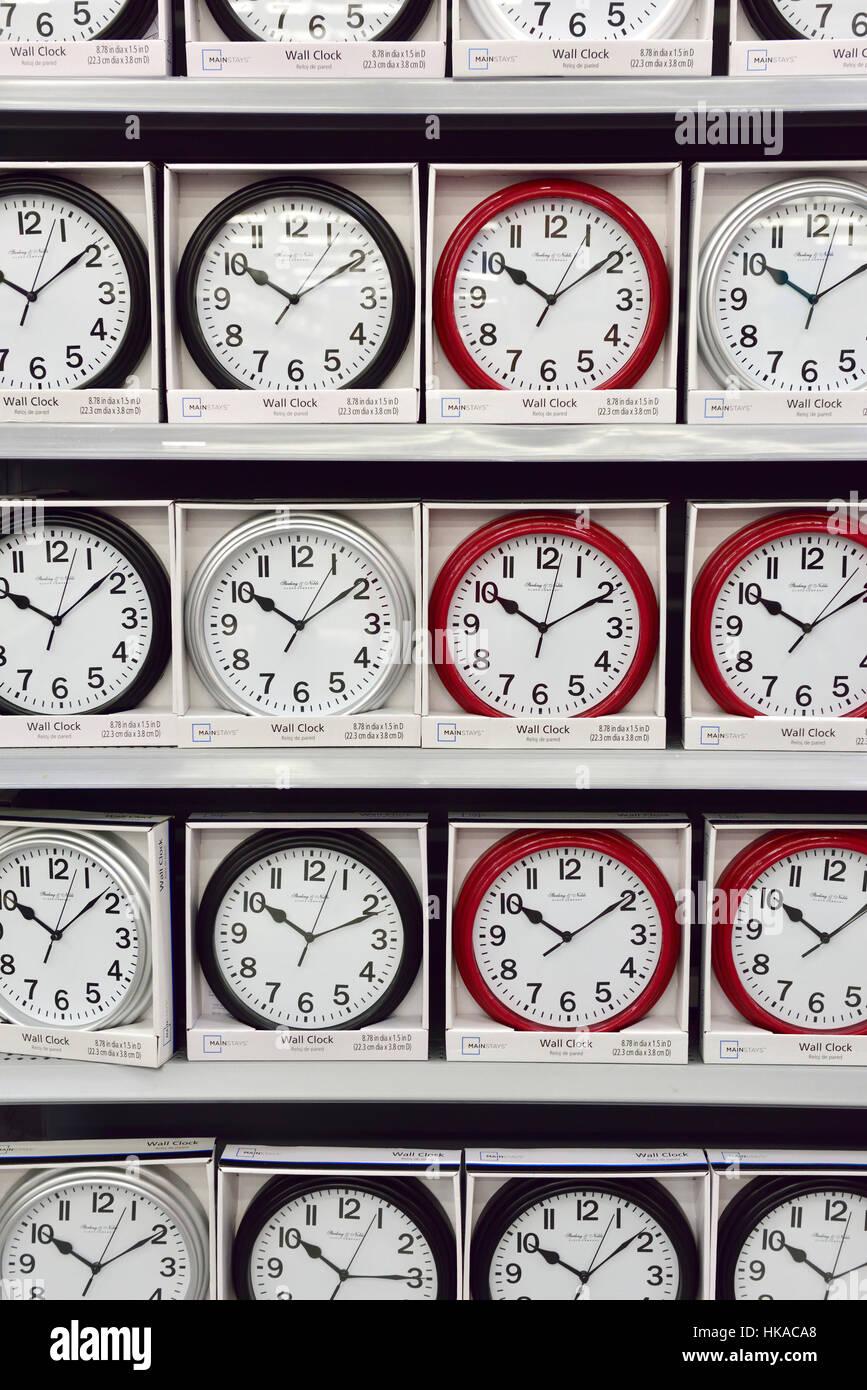 Clocks, ten past ten - Stock Image