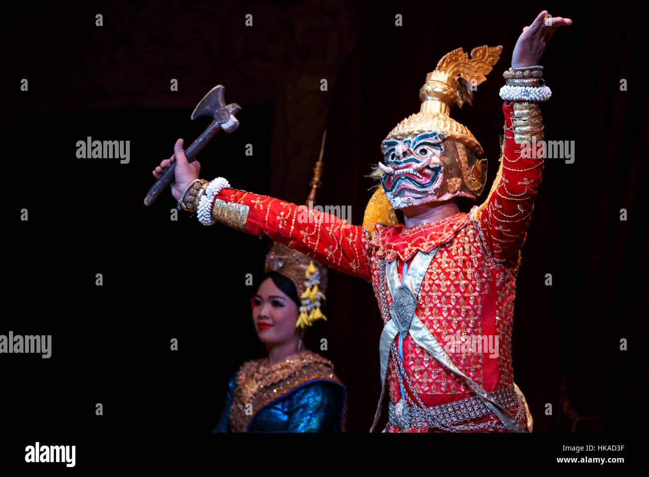 Apsara dancers, Siem Reap, Cambodia - Stock Image