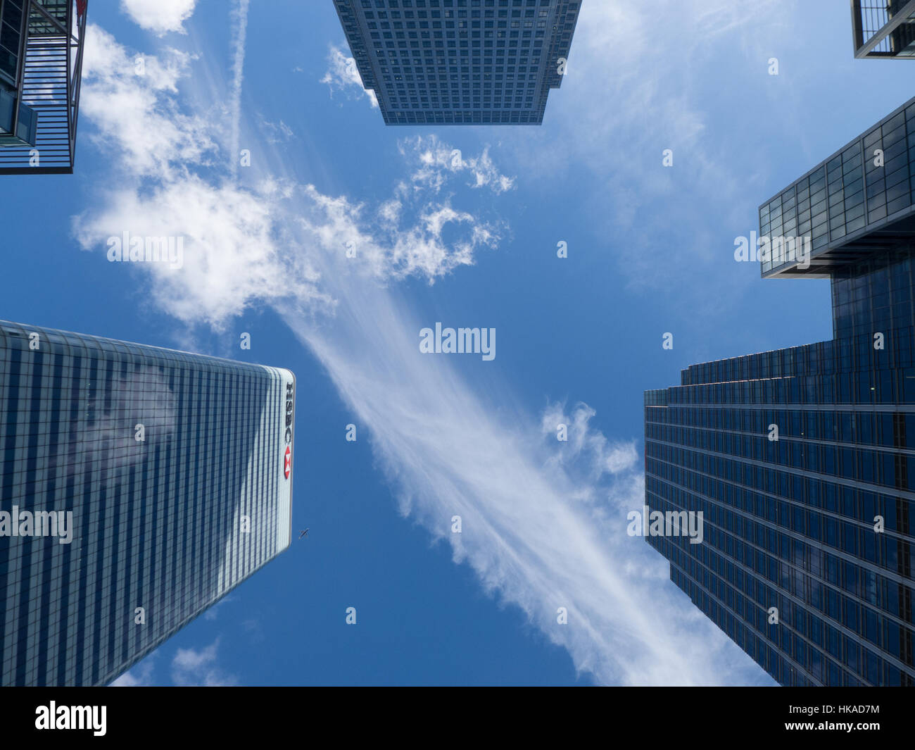 Skyscrapers at Canary Wharf - Stock Image