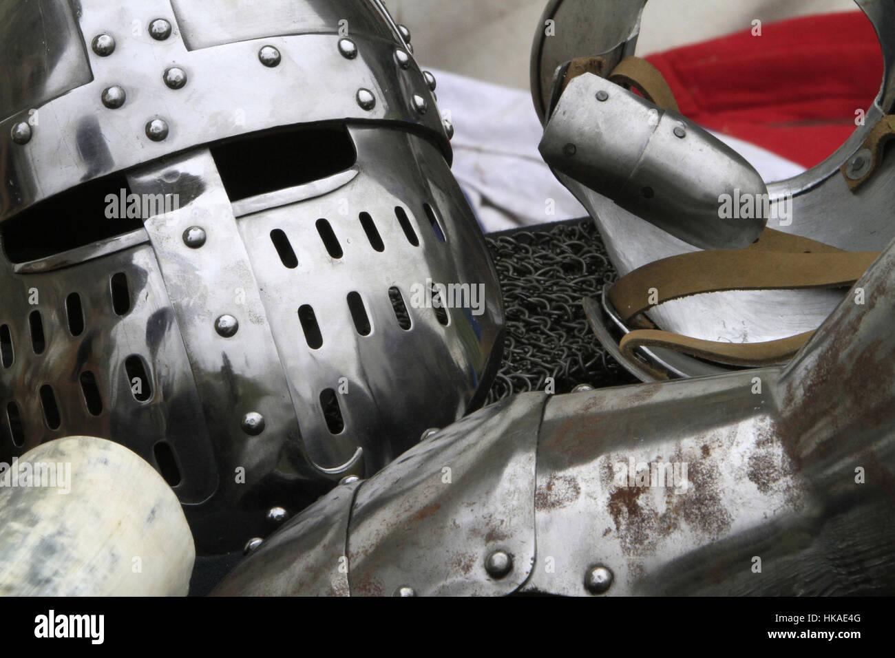 Soldier helmet. Stock Photo
