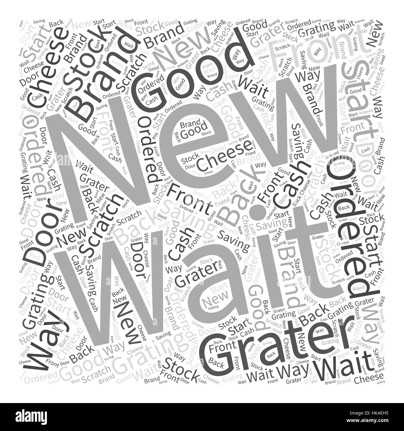 cheese grater Word Cloud Concept - Stock Image