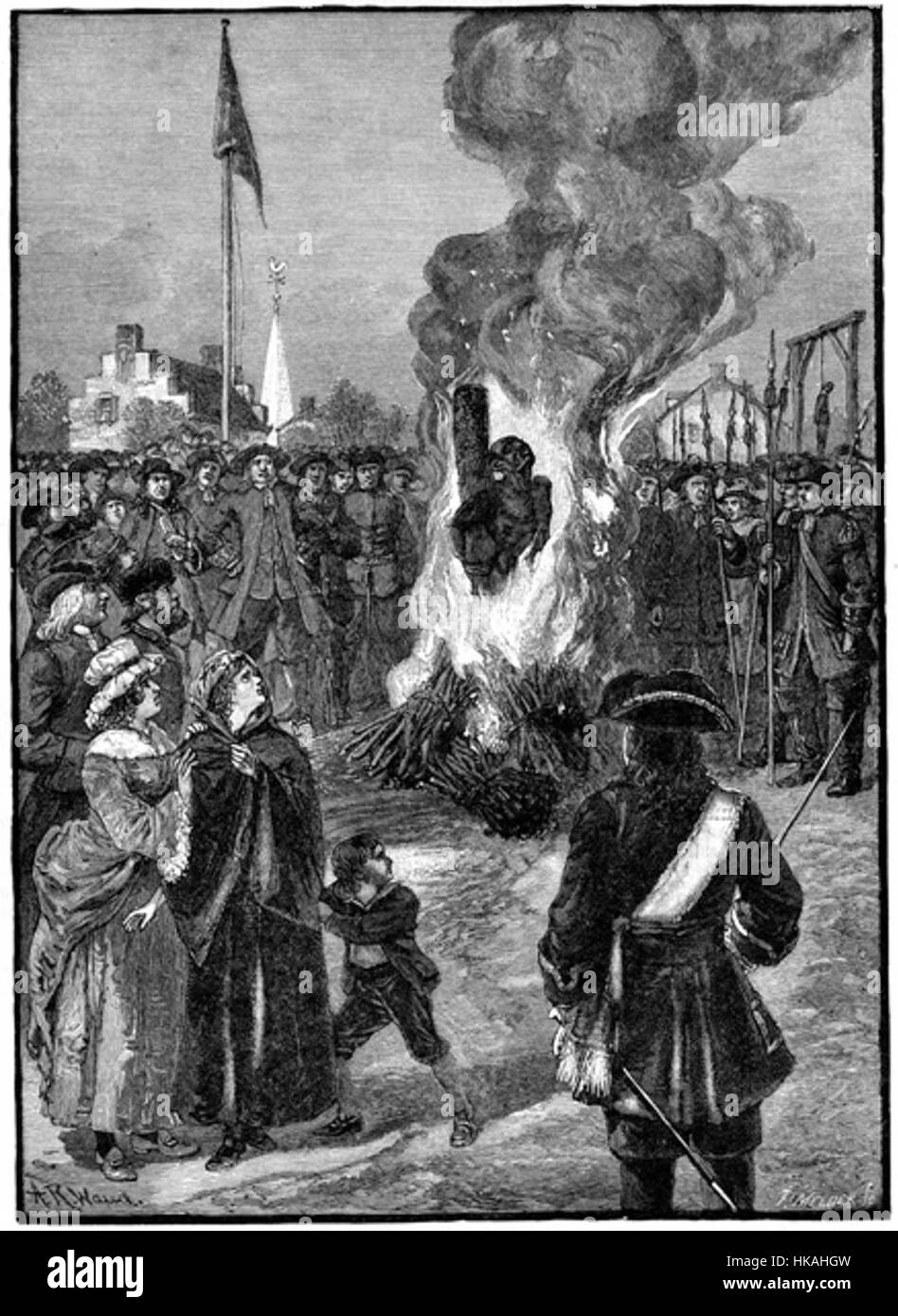 HISTORY OF SLAVERY: EXECUTING NEGROES IN NEW YORK - Stock Image