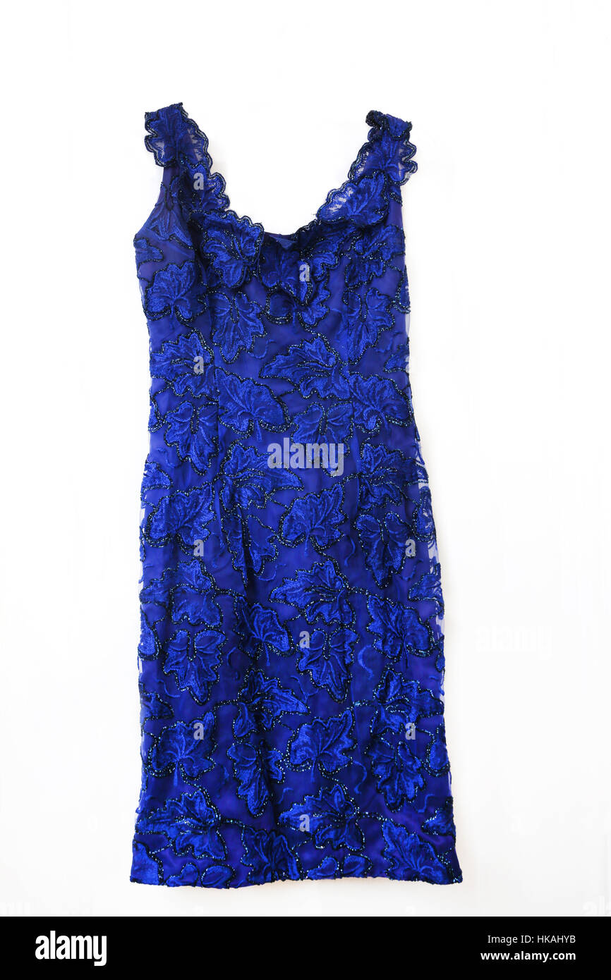 1cd40cd2dbd Vintage 1960 s Royal Blue Cocktail Dress Stock Photo  132384655 - Alamy
