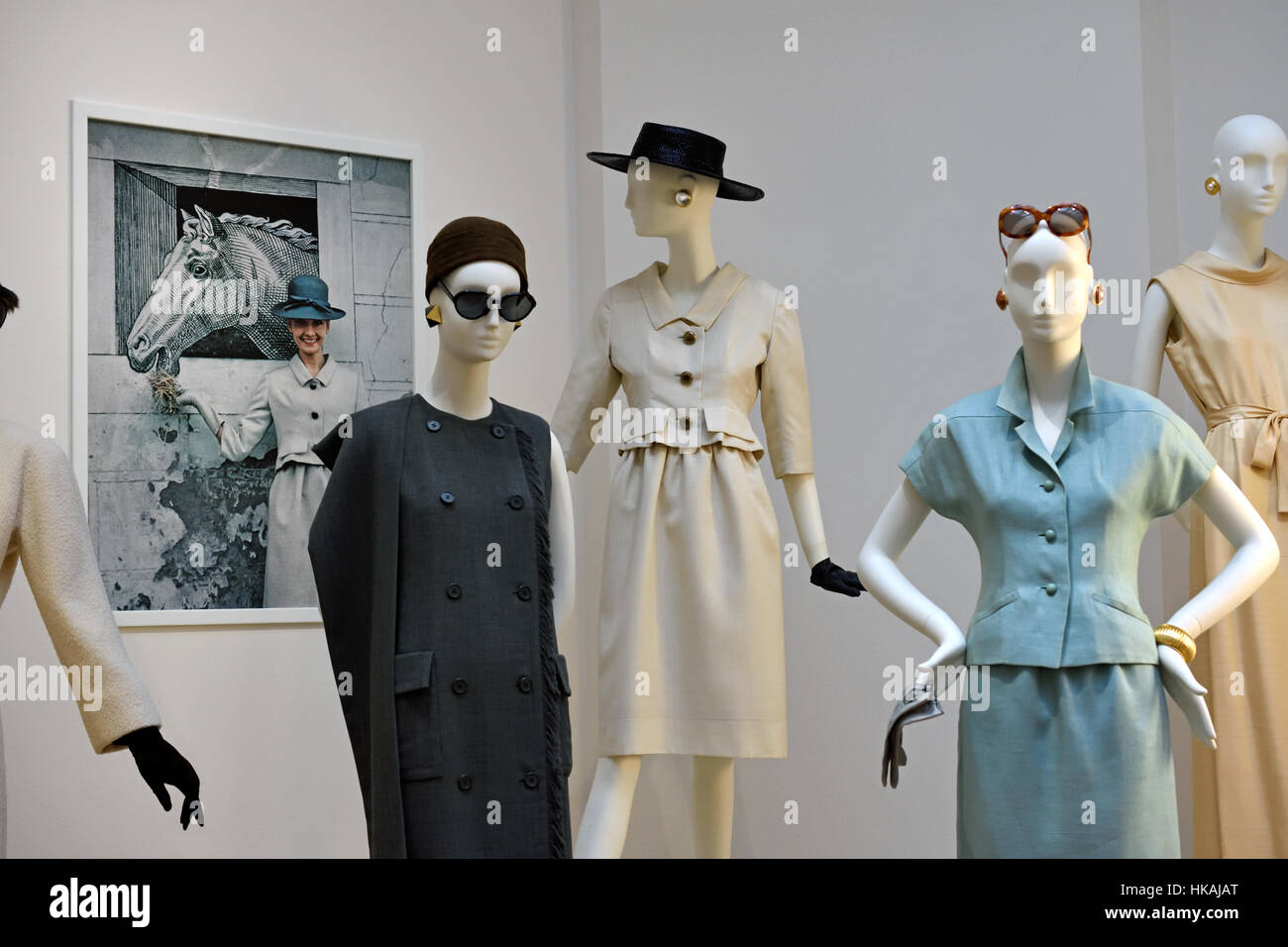 Hubert de Givenchy ( Couturier ) France clothes - Stock Image