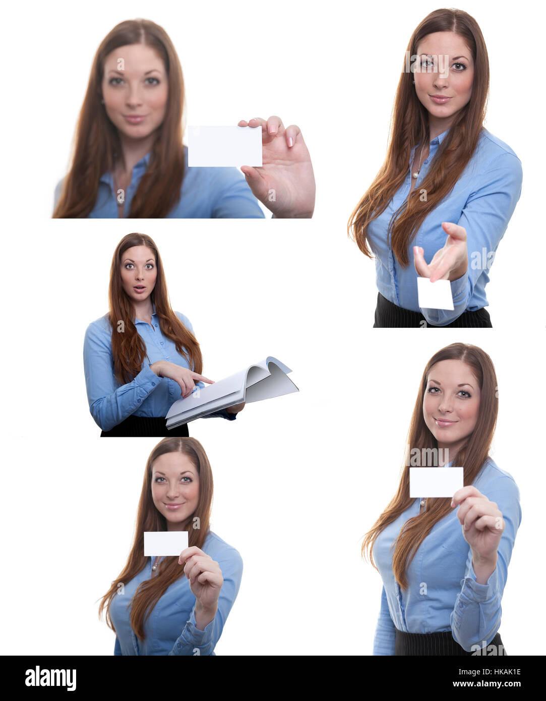 Business woman with business card poses isolated in front of white business woman with business card poses isolated in front of white background reheart Image collections