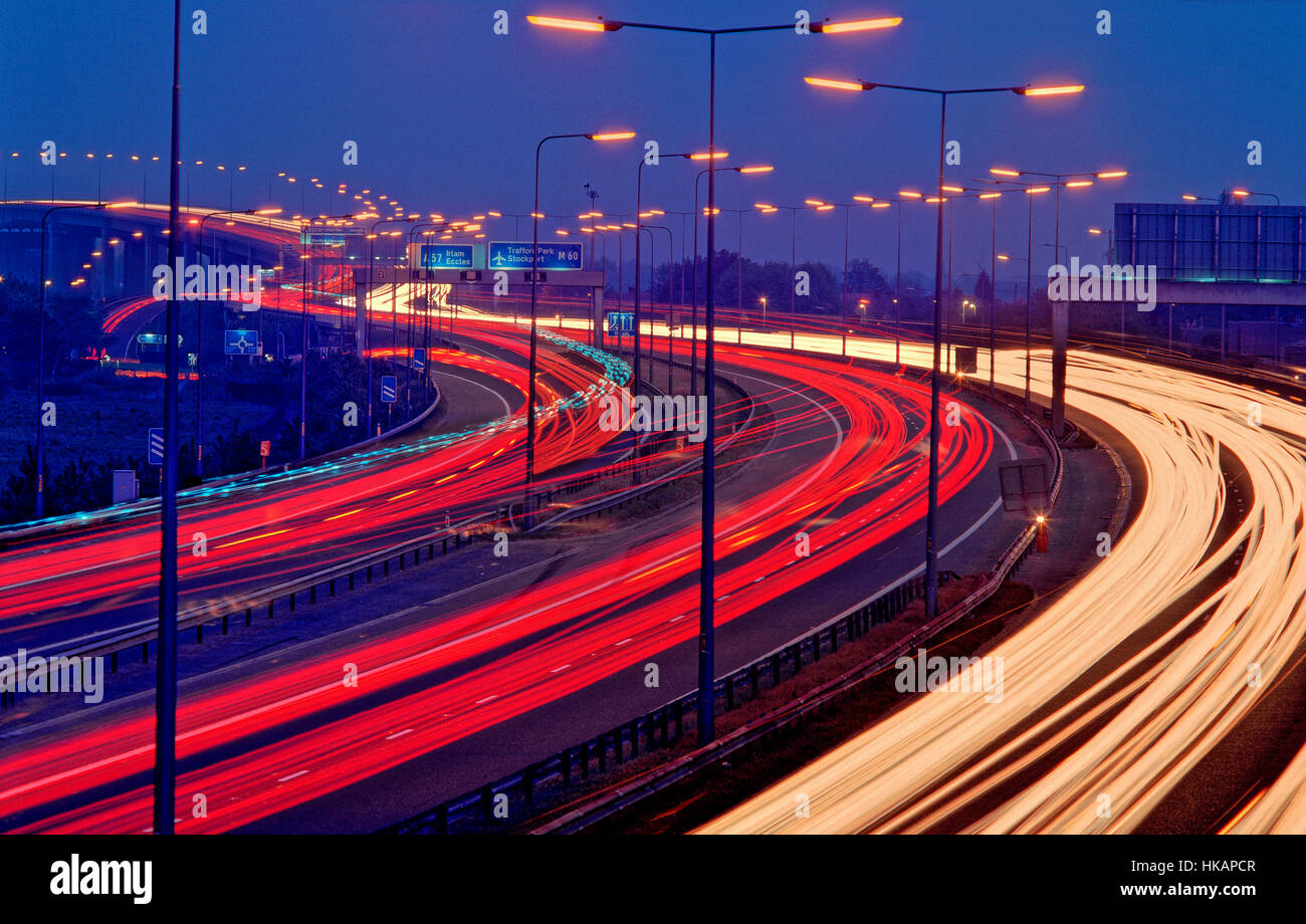 M60 Orbital Motorway Eccles 'Greater Manchester' England United Kingdom - Stock Image