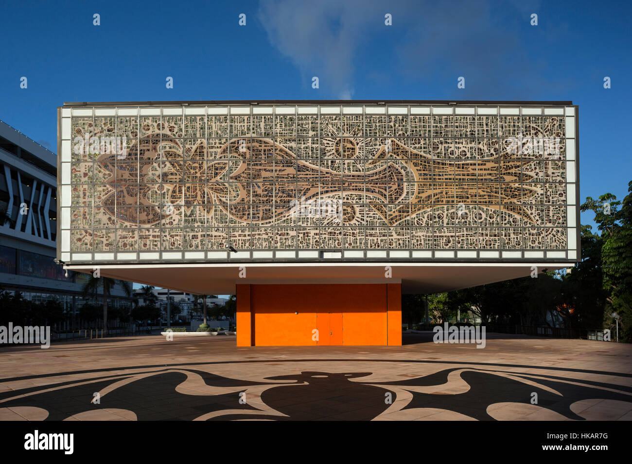 JEWEL BOX ANNEX (©IGNACIO CARRERA JUSTIZ 1973) NATIONAL YOUNGARTS CAMPUS MIAMI FLORIDA USA - Stock Image