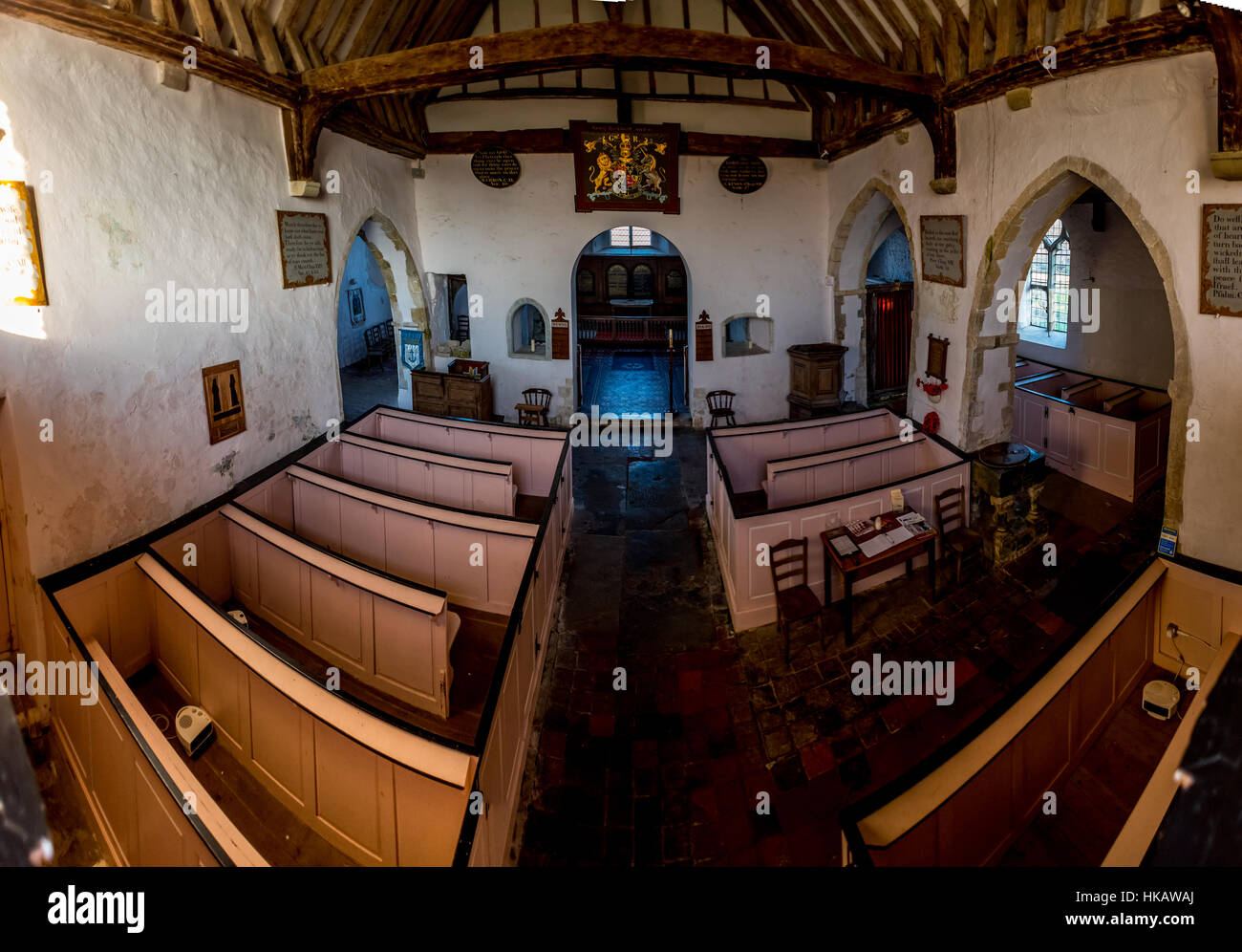 St Clement church in Old Romney, Kent, dating back to the twelfth century - Stock Image