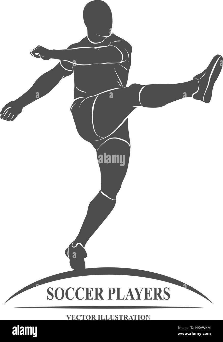 Icon soccer player on a white background. Vector illustration. - Stock Vector