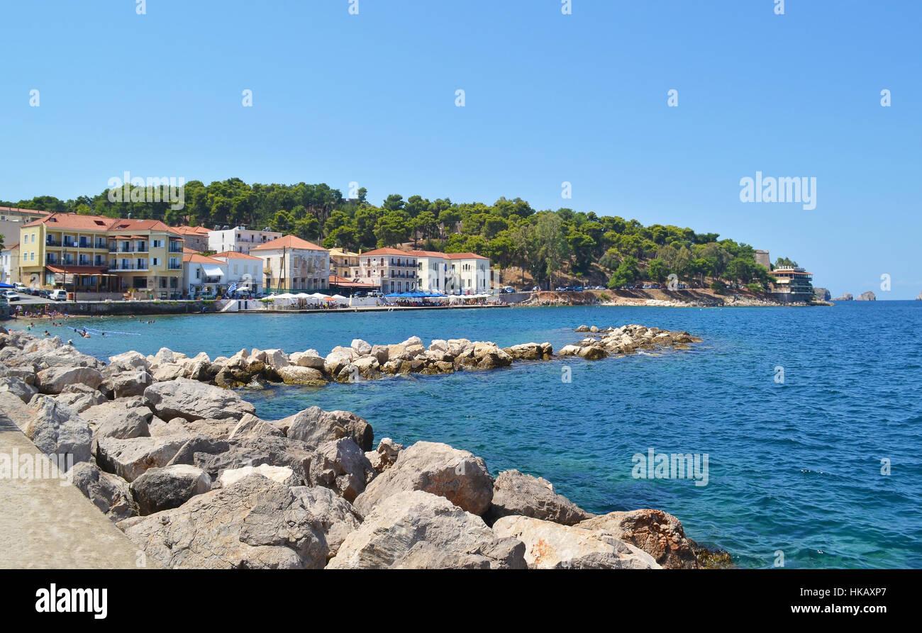 landscape of Pylos Peloponnese Greece - Stock Image