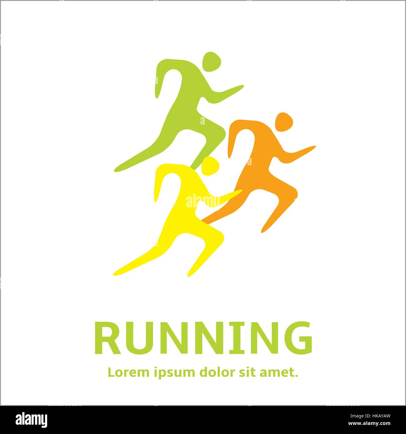 Running Man People Silhouette Icon Lets Run Simple Symbol Of
