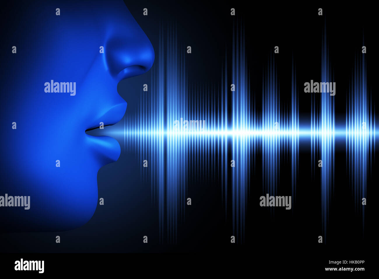 Conceptual image about human voice - Stock Image
