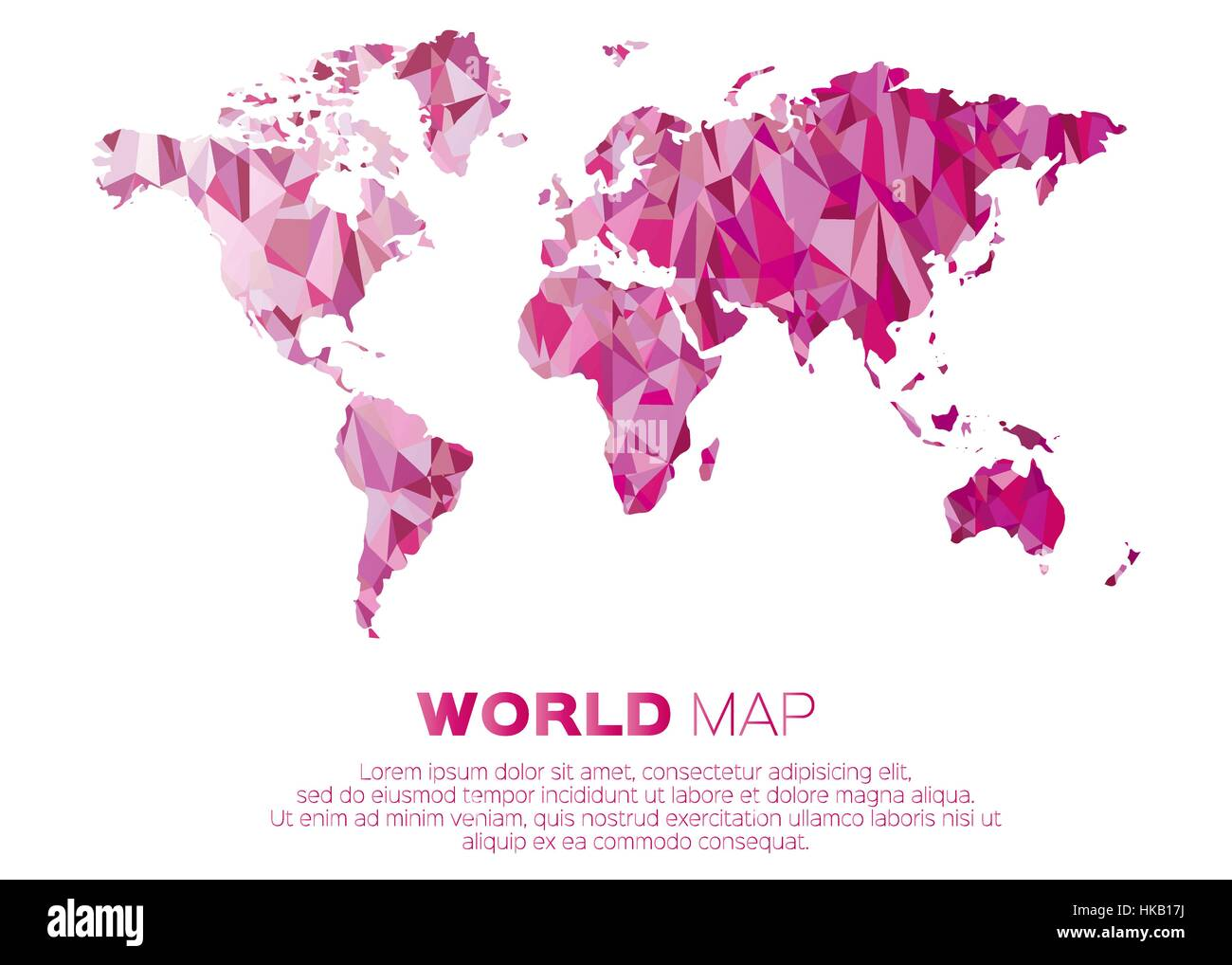 World map background in polygonal style Abstract origami color map